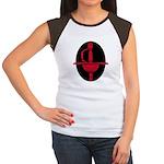 Red and Black Rapier Women's Cap Sleeve T-Shirt