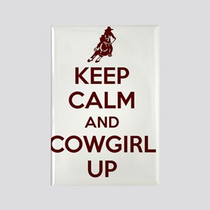 Keep Calm and Cowgirl Up Rectangle Magnet