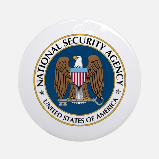 NSA - NATIONAL SECURITY AGENCY Round Ornament