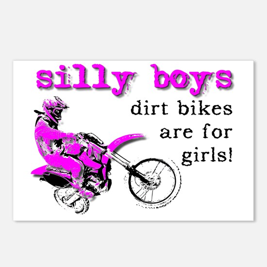 Dirt Bikes Are For Girls  Postcards (Package of 8)