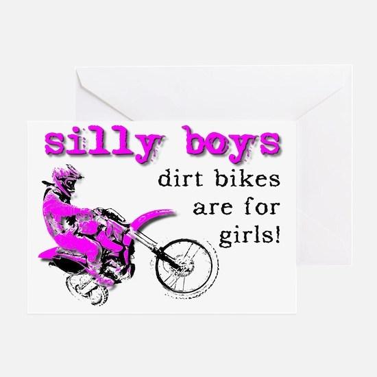 Dirt Bikes Are For Girls Motocross B Greeting Card