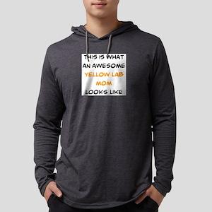 awesome yellow lab mom Mens Hooded Shirt