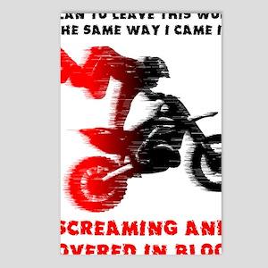Screaming Blood Dirt Bike Postcards (Package of 8)