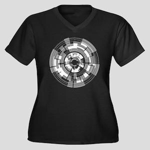 Bits and Byt Women's Plus Size Dark V-Neck T-Shirt