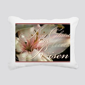 Christ is Risen Rectangular Canvas Pillow