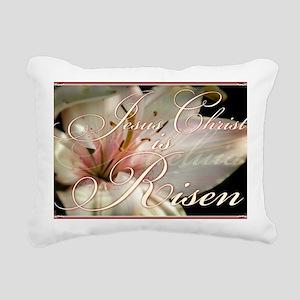 Christ is Risen Rectangular Canvas Pillow