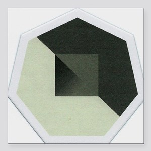 "Octagon Abstract Square Car Magnet 3"" x 3"""