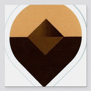 "Tear Drop Abstract Square Car Magnet 3"" x 3"""