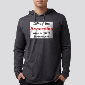play accordion Mens Hooded Shirt