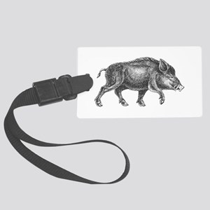 Wild Boar Large Luggage Tag