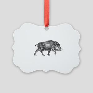 Wild Boar Picture Ornament