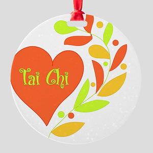 Tai Chi Heart Round Ornament