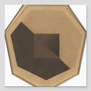 "Chocolate Otagon Abstrac Square Car Magnet 3"" x 3"""