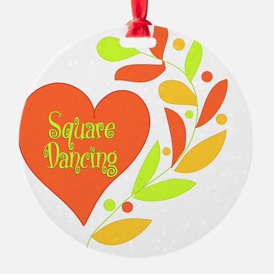 Square Dancing Heart Ornament