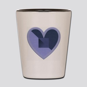 Turquoise and Blue Heart Shot Glass