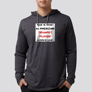awesome trumpet player Mens Hooded Shirt