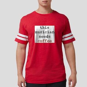 musician needs coffee Mens Football Shirt