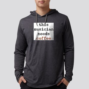 musician needs coffee Mens Hooded Shirt