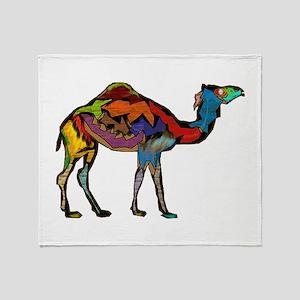 CAMEL SPECTRAL Throw Blanket