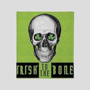 Irish to the bone Throw Blanket