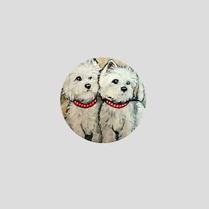 West Highland Terrier Spring Mini Button