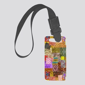 Messy Quilt Small Luggage Tag