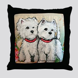 West Highland Spring Throw Pillow