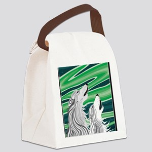 Howling Aurora Huskies Canvas Lunch Bag