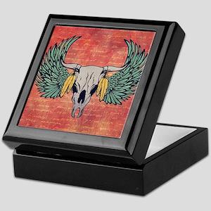 Winged Skull Keepsake Box