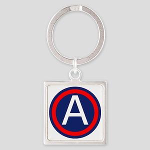 Third Army logo Square Keychain