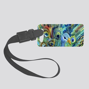 Peacock Party Small Luggage Tag