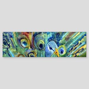 Peacock Party Sticker (Bumper)