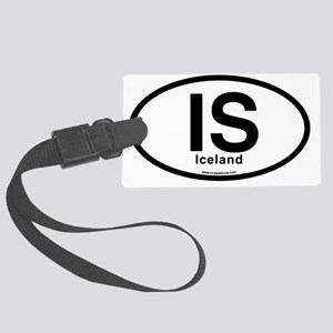 IS - Iceland Oval Large Luggage Tag