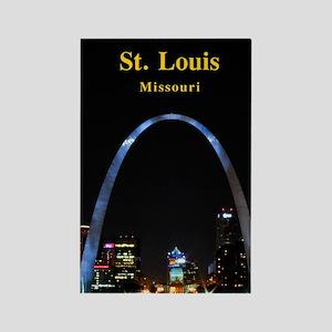 St Louis Gateway Arch Rectangle Magnet