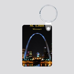 St Louis Gateway Arch Aluminum Photo Keychain