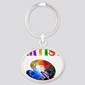 Artist Oval Keychain