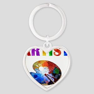 Artist Heart Keychain