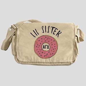 Alpha Gamma Delta Little Donut Messenger Bag