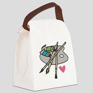 Painter's Palette Canvas Lunch Bag