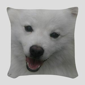 Eskie Face Woven Throw Pillow