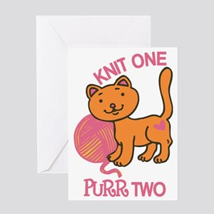 Purr Two Greeting Card
