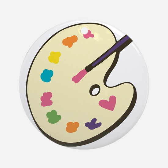 Paint With Love Round Ornament
