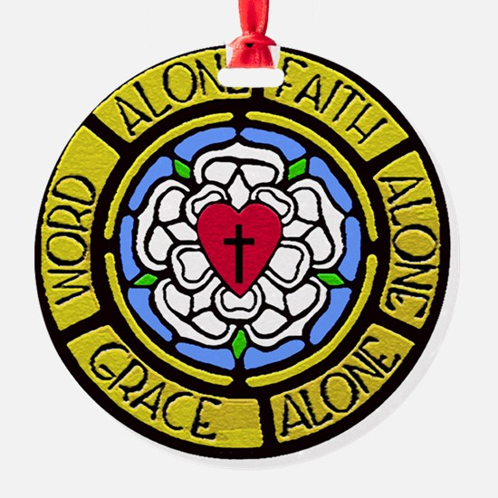 Grace Faith Word Sq CM Ornament