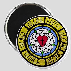 Grace Faith Word Sq CM Magnet