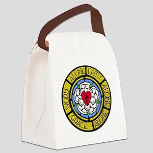 Grace Faith Word Sq CM Canvas Lunch Bag