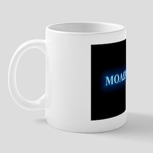 Oval - Molon Labe - Blue Glow Mug