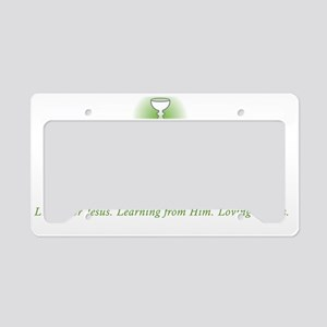 St. Timothy's Logo with Tagli License Plate Holder