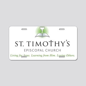 St. Timothy's Logo with Tag Aluminum License Plate