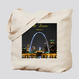 StLouis_8.887x11.16_iPadSleeve_ArchAtNigh Tote Bag
