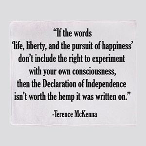 Terence McKenna Quote Throw Blanket